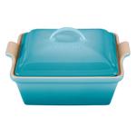Le Creuset Heritage Caribbean Stoneware Covered Square Casserole Dish, 2.5 Quart