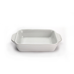 Le Creuset White Stoneware Rectangular Baking Dish, 22 Ounce