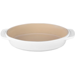 Le Creuset White Stoneware Oval Baking Dish, 1 Quart