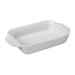 Le Creuset White Stoneware Rectangular Baking Dish, 1.8 Quart