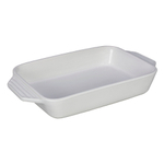 Le Creuset White Stoneware Rectangular Baking Dish, 3.15 Quart
