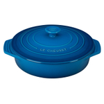 Le Creuset Heritage Marseille Blue Stoneware Covered Round Casserole Dish, 2.10 Quart