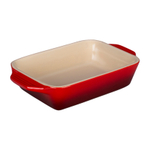 Le Creuset Cherry Stoneware Rectangular Baking Dish, 22 Ounce