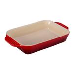 Le Creuset Cherry Stoneware Rectangular Baking Dish, 1.8 Quart