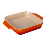 Le Creuset Flame Stoneware Square Baking Dish, 2.2 Quart
