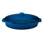 Le Creuset Marseille Stoneware Covered Oval Casserole Dish, 3.75 Quart