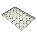 Focus Foodservice Commercial Bakeware Hamburger Bun or Muffin Top Pan, 17.6 x 25.6 Inch