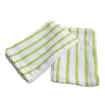 Gourmet Classics Green Striped Cotton Kitchen Towel, Set of 4
