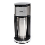 Capresso On The Go Stainless Steel Personal Coffee Maker