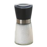 Kamenstein Black Glass Grinder with Sea Salt, 5 Ounce