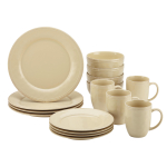 Rachael Ray Cucina 16 Piece Almond Cream Stoneware Dinnerware Set