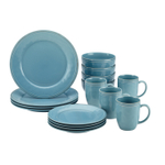 Rachael Ray Cucina 16 Piece Agave Blue Stoneware Dinnerware Set