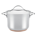 Anolon Nouvelle Covered Stock Pot, 6.5 Quart