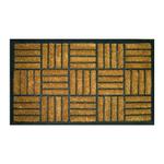 Entryways Criss Cross Recycled Rubber Bootscraper Doormat, 18 x 30 Inch