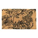 Entryways Ink Bouquet Hand Woven Coir Doormat, 18 x 30 Inch