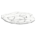 Nachtmann Petals Non-leaded Crystal Charger Plate, 12.6 Inch