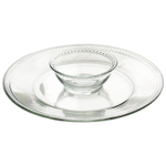 Anchor Hocking Isabella Glass 2 Piece Chip and Dip