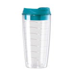 OGGI Acrylic Aqua Double Walled Tumbler with Straw, 20 Ounce