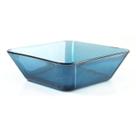 Mainstays Home Coastal Blue Square Bowl, 6.5 Inch Kit Component