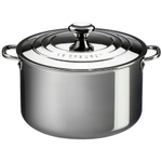 Le Creuset Tri-Ply Stainless Steel Casserole with Lid, 4 Quart