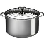 Le Creuset Tri-Ply Stainless Steel Stockpot with Lid, 7 Quart