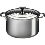 Le Creuset Tri-Ply Stainless Steel Stockpot with Lid, 11 Quart