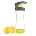 Full Circle Lemon On-the-Go Lime Green Glass Water Bottle, 20 Ounce