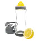 Full Circle Lemon On-the-Go Blackberry Glass Water Bottle, 20 Ounce