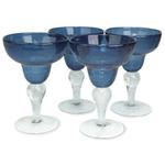 Artland Iris Slate Blue 8 Ounce Margarita Glass