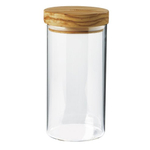Berard Glass Jar with Olive Wood Lid, 4 Cup