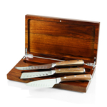 Fabio Viviani Heritage Collection Tridente 3 Piece Cheese Tool Set in Acacia Box