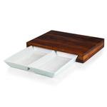 Fabio Viviani Heritage Collection Compagno Acacia Cutting Board with Ceramic Chop Tray