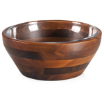 Fabio Viviani Heritage Collection Medium 2 Piece Carovana Acacia and Glass Nested Salad and Serving Bowl