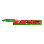 Pure Komachi HD Watermelon Pattern Stainless Steel 11 Inch Melon Knife with Sheath