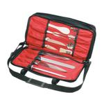 Mercer Black Triple-Zip Knife Case