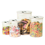 Oggi White Stack 'N Store 4 Piece Canister Set
