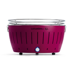LotusGrill XL Plum Purple Smokeless Charcoal Grill With Transport Bag