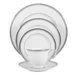 Lenox Pearl Platinum Bone China 5 Piece Dinnerware Set, Service For 1