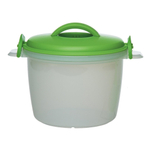 Progressive International Green Microwavable Rice Cooker Set, 6 Cup