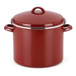 Rick Bayless Red 12 Quart Tamale Steamer Stock Pot