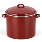 Rick Bayless Red 16 Quart Tamale Steamer Stock Pot
