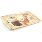 Melamine Large European Coffee Serving Tray