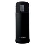 Zojirushi Black Stainless Steel 12 Ounce Vacuum Insulated Flip Top Mug