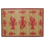 Sunday Morning Home Veranda Lobster Bamboo 2 x 3 Foot Indoor Mat