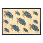 Sunday Morning Home Veranda Sea Turtle Bamboo 2 x 3 Foot Indoor Mat