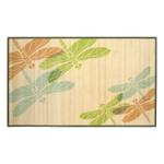 Sunday Morning Home Veranda Dragonfly Trio Bamboo 3 x 5 Foot Indoor Mat