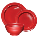 Emile Henry Brick Ceramic 3 Piece Dinnerware Set