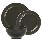 Emile Henry Charcoal Ceramic 3 Piece Dinnerware Set