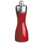 Peugeot Fidji Red Lacquer Beech Wood 6 Inch Pepper Mill