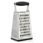 Cuisipro Stainless Steel 4 Sided Box Grater with Bonus Ginger Base